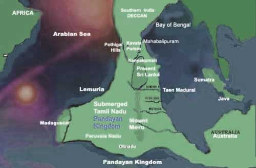 The Lost Continent of Kumari Kandam.
